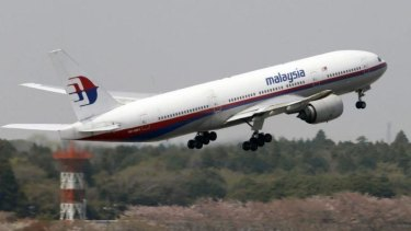 A Malaysia Airlines Boeing 777-200ER.