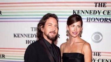 Second marriage ... Eddie Vedder has married long-term partner Jill McCormick.