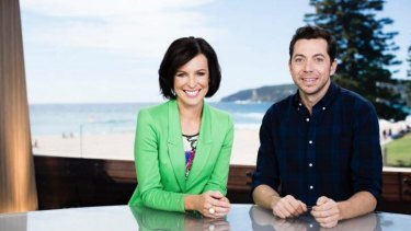 Final days ... Wake Up hosts Natarsha Belling and James Mathison had to brave the cameras after Ten announced axing.