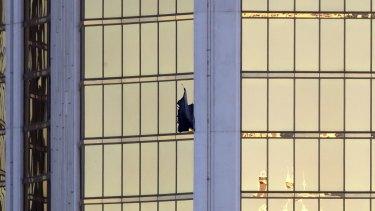 The gunman was firing from a room at the  Mandalay Bay resort and casino.