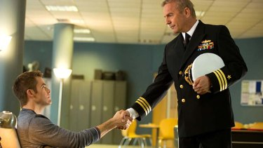 Clancy's world: Chris Pine and Kevin Costner.