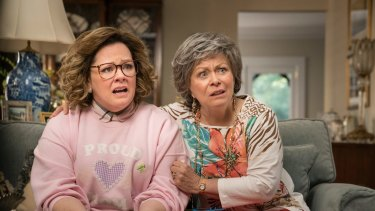 "Melissa McCarthy, left, and Jacki Weaver in a scene from ""Life of the Party""."