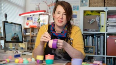 Kathy Heyward in her studio.