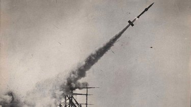 Blast from the past: a  rocket test at the Woomera  guided weapons range.