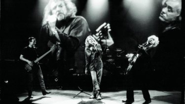 A reformed Led Zeppelin in full flight at Shepparton Studios, 2007.