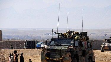Australian troops on patrol in Oruzgan province.