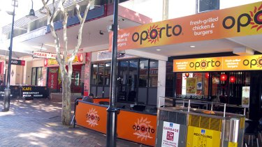 Fast food outlets dominate the bottom of the Brunswick Street Mall in Fortitude Valley.