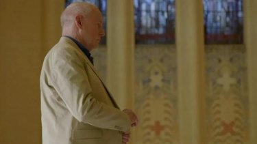 """A screen grab from """"Home and Away"""", with Alf (played by Ray Meagher) at the Australian War Memorial."""