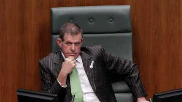 New Speaker Peter Slipper takes his seat after extraordinary scenes today.
