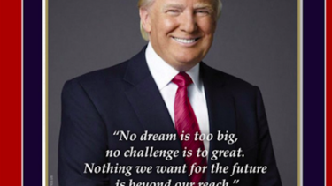 Critics were quick to point out the typo in US President Donald Trump's inauguration poster.
