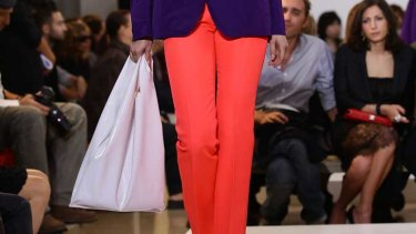 It's not the first time Jil Sander has reappropriated carrier bags - she featured acetate shoppers in her s/s 2011 line.