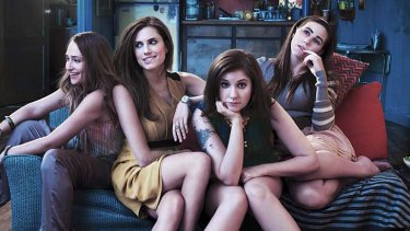 Vice girls … (from left) Jemima Kirke, Allison Williams, Lena Dunham and Zosia Mamet.