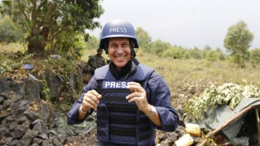 Australian journalist Peter Greste on assignment.
