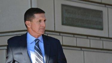 Former Trump national security adviser Michael Flynn leaves federal court on December 1.