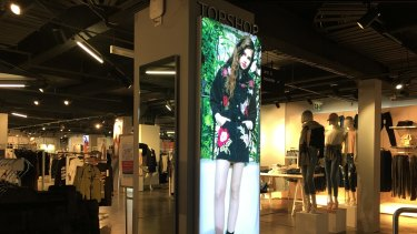 Sign of the times ... the only evidence remaining of the Topshop concession at Myer Melbourne.