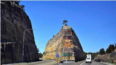 Massive: Peter Spooner's work on the highway to Newcastle, north of Sydney. He paid special attention to the landforms while selecting on-site alignments for vistas and construction.