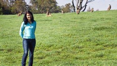 Country vet: Karen Viggers has studied kangaroos.
