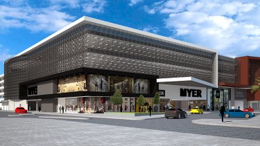 An artist's impression of what the refurbished Myer Fremantle building may look like.