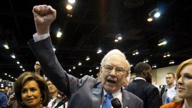 Share investors' rock star: Berkshire Hathaway boss Warren Buffett at Berkshire's annual meeting last year.