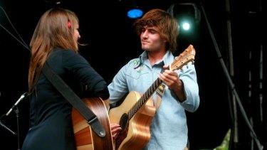 Julia and Angus Stone perform at Homebake, 2007.