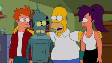 There was a cryptic ending to the <i>The Simpsons/Futurama</i> crossover episode...