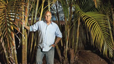 Green mile … author Robert Drewe near his home in the Byron Bay hinterland.