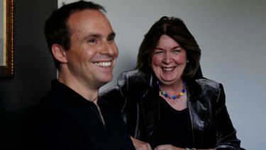 Director Jim Loach and Margaret Humphreys, on whose story <i>Oranges and Sunshine</i> is based.