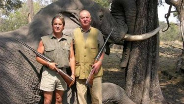 King Juan Carlos on safari in Botswana.