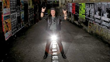 Dave Evans in AC/DC Lane.