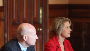 Labor pains... the new Minister for Transport John Robertson and Premier Kristina Keneally.