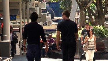 Council smoking inspectors monitor Queen Street Mall.