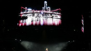 The Gabba lights up for Adele.
