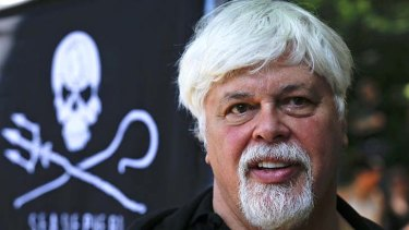 Pirate captain ...  Paul Watson, founder  of  environmental group the Sea Shepherd Conservation Society.
