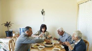 Sam Al Maraee  with his sister Farah Al-Maraai, father Ali Al-Maraai, and mother Dalal Al-Suhairee.