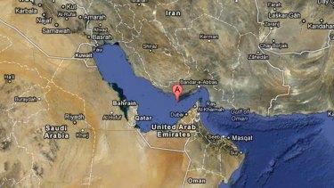 The unmarked Persian Gulf - aka Arabian Gulf - as seen on Google Maps.