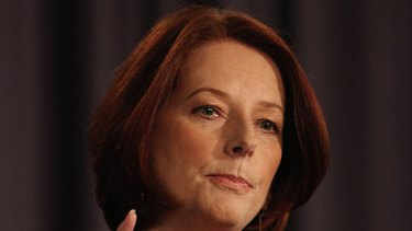 Julia Gillard ... apologised to Alan Jones for being late.