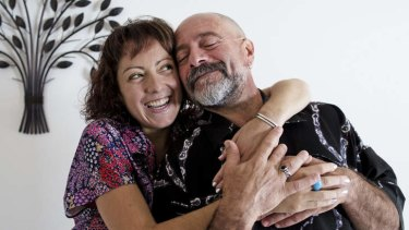 Narelle Grech with her biological father Ray Tonna.