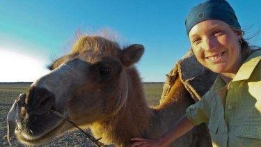 Lauren trecked for 52 days on foot across Mongolia's Gobi Desert.