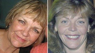 Victims ... Vivien Hodgins and Maree Blacker