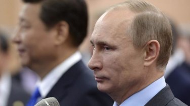 Russia's President Vladimir Putin and his Chinese counterpart Xi Jinping in Sochi.