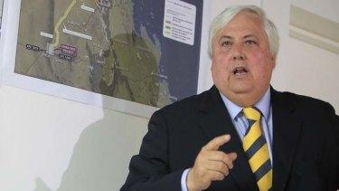 Uproar ... mining magnate Clive Palmer.