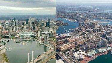 Same, same ... Melbourne and Sydney.