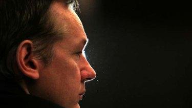 Wanted man ... Julian Assange.
