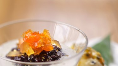 Delicious and nutritious ... black rice pudding.