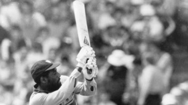 """""""[Viv] Richards will not wear a helmet; he will not give the bowler that much credit."""""""