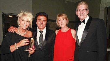 (l-r) Rose King, Lifetime Achievement award winner Stefan Ackerie, and Jeanette and Mark Morris.