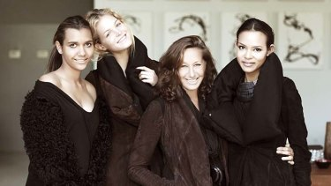 Different world: Lisa-Marie Rodd, left, Victoria's Secret Model Erin Heatherton, Donna Karan and Jahlana Roe.