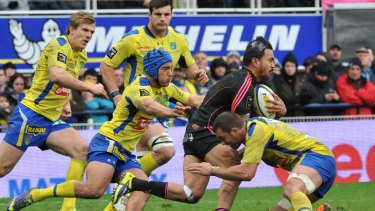 Digby Ioane in action for Stade Francais against Clermont.