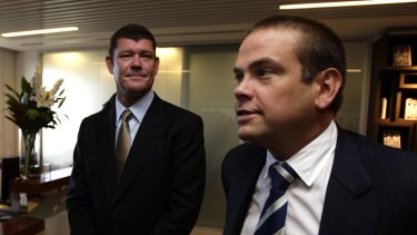 James Packer and Lachlan Murdoch in 2012