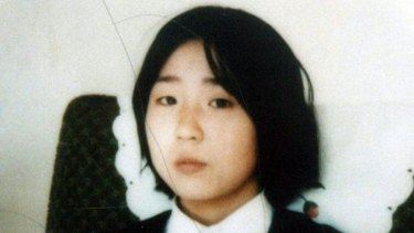 Megumi Yokota, in this undated photo, in North Korea after her abduction from  Japan.